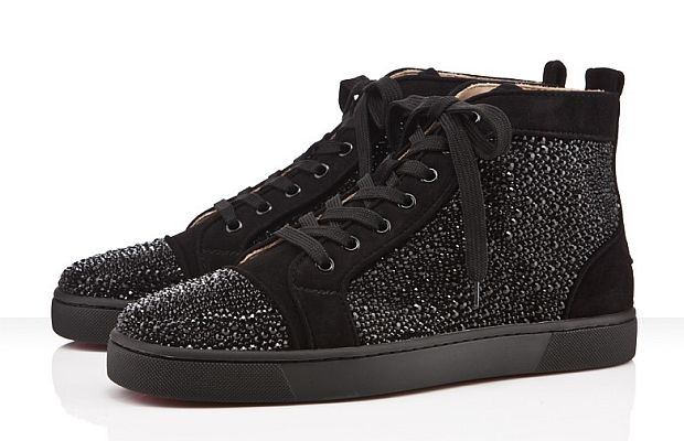best sneakers ec962 4ff60 Christian Louboutin Shoes Laced Up In Swarovski Crystals ...