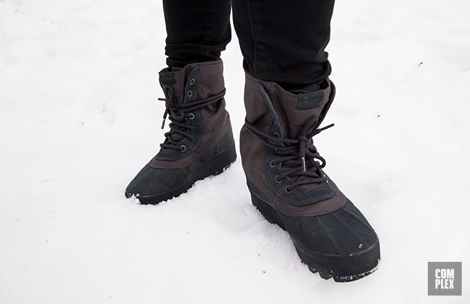 low priced 13a11 de43b Jonas vs Yeezy: Our Intern Wore Yeezy Boots in the Snow ...