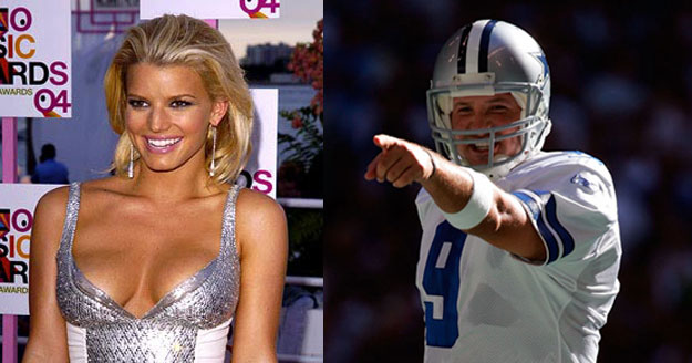 62f24e3bbe9 Going Bust: Tony Romo can blame Jessica Simpson's twos for his poor  performances.
