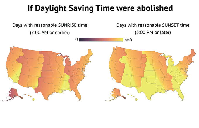 These Maps Prove That Daylight Saving Time Is Still Making Everyone on