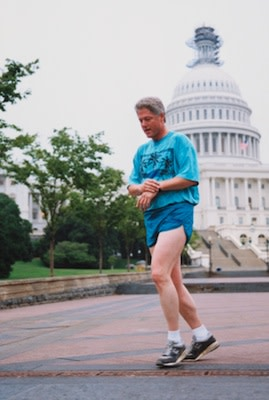b3be793d8a3c3 Bill Clinton was a fan of New Balance sneakers and jogged in the 1500 model.