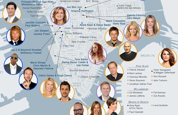 Find Out Where Your Favorite Celebrities Live With ... Celebrity Star Map on star home map, famous star map, red star map,