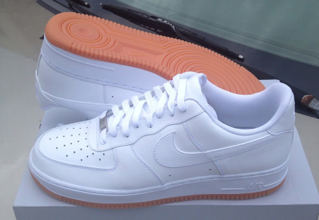 Nike Air Force 1 White/Gum Sole | Complex