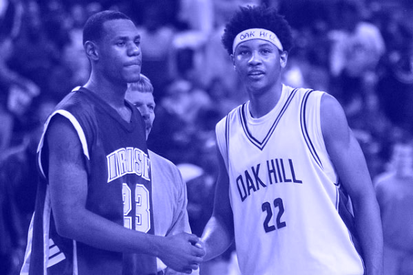 6ddce232db0 It's been 11 years since LeBron James and Carmelo Anthony staged their  first national TV battle (SVSM vs. Oak Hill) and ain't much changed between  two of ...