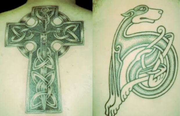 902155eea And, for the past 18 years the owner of LuckyFish tattoo shop in Santa  Barbara has been mastering the art of Celtic design.