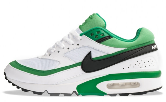 green and white nike air max