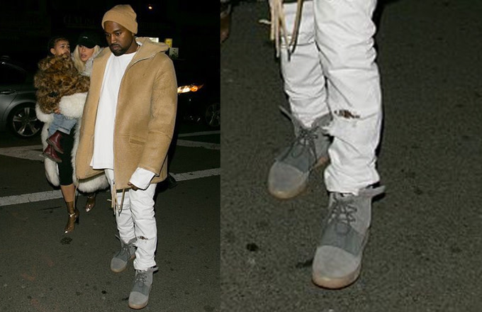 new arrival 9d530 d3131 Kanye West Wearing adidas Yeezy 750 Boost in NYC | Complex