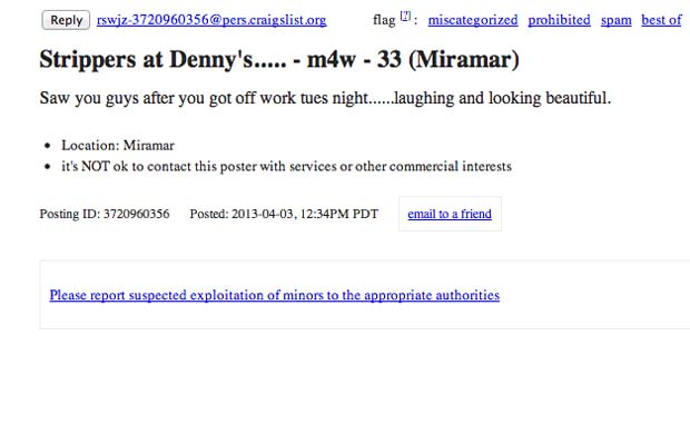 20 Ridiculous Missed Connections on Craigslist | Complex