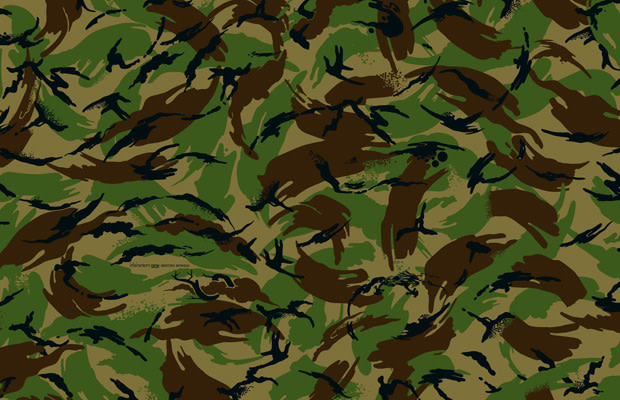 quality design 894c1 09cec This pattern was based on the distinctive camouflage of the British Army,  which was developed by the Army Personnel Research Establishment in  Farnborough.