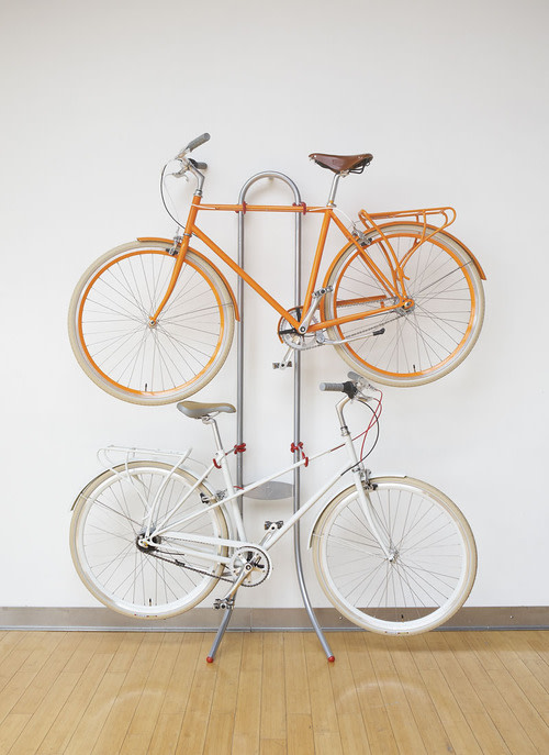 e9cd68c5ef2 Gravity racks are a popular means of storing bikes in the home. The  Michaelangelo 2 Bike Gravity Storage Rack is a stand constructed with a  reinforced steel ...
