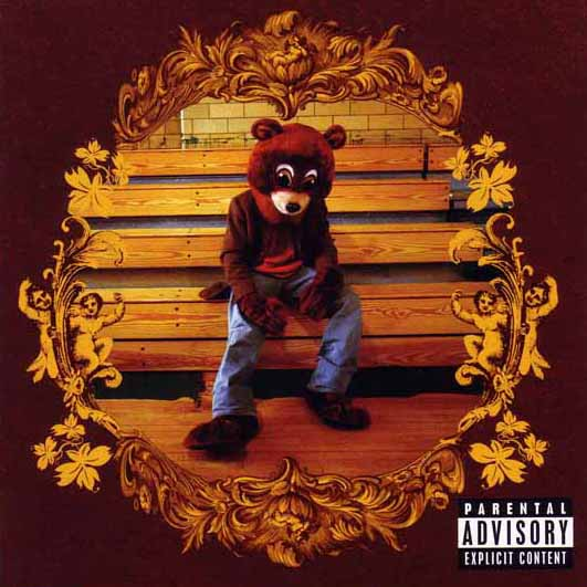 Cover art for Kanye's debut album, College Dropout
