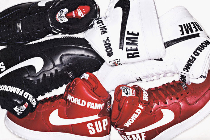 100% authentic 2add5 53801 Supreme x Nike Air Force 1 High