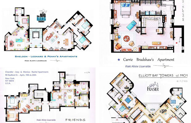 Floor Plans Of Your Favorite Sitcom Apartments | Complex