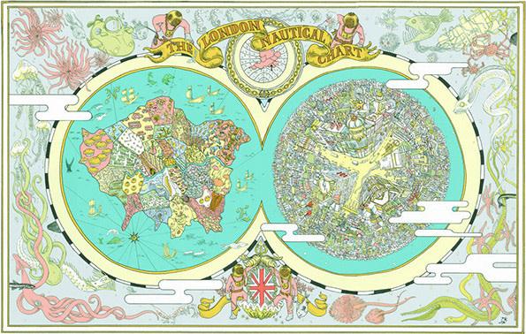 Map Of England Under Alfred The Great.Takayo Akiyama Illustrates Historical Hilarious Maps For Alfred
