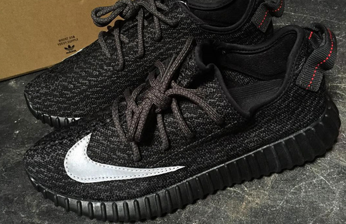 Nike x adidas Yeezy 350 Boost Customs by The Shoe Surgeon