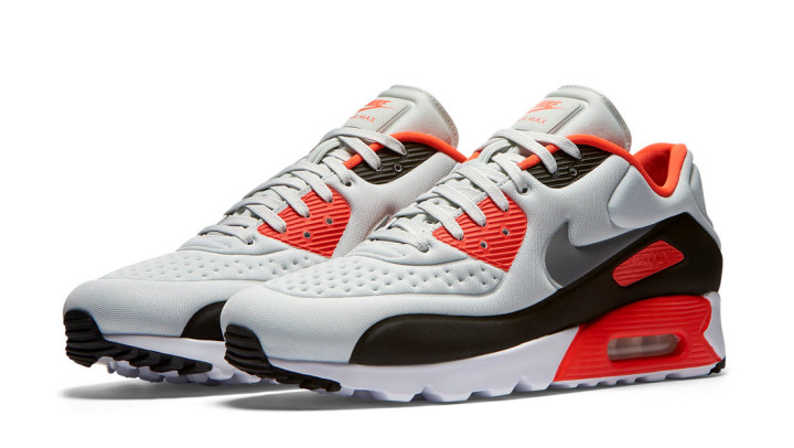 Nike Air Max 90 Ultra SE Infrared (light grey neon red