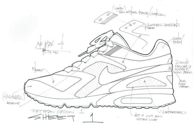 1fdfba106d4 Nike Air Max BW Original Sketch by Tinker Hatfield | Complex
