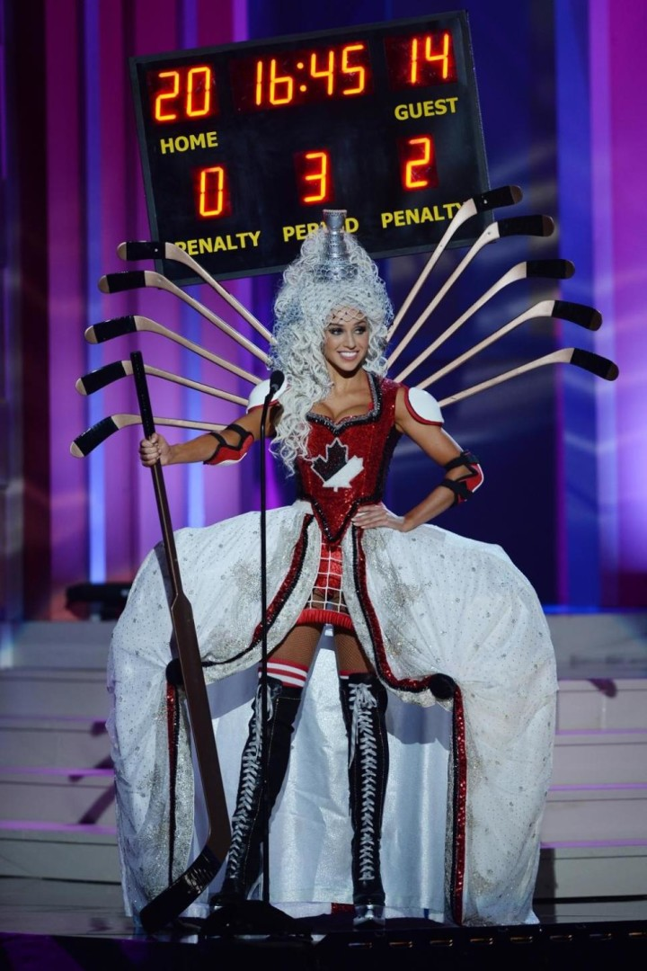 Miss Canada Chanel Beckenlehner participtaes in the 63rd Annual Miss Universe Preliminary Show in Florida