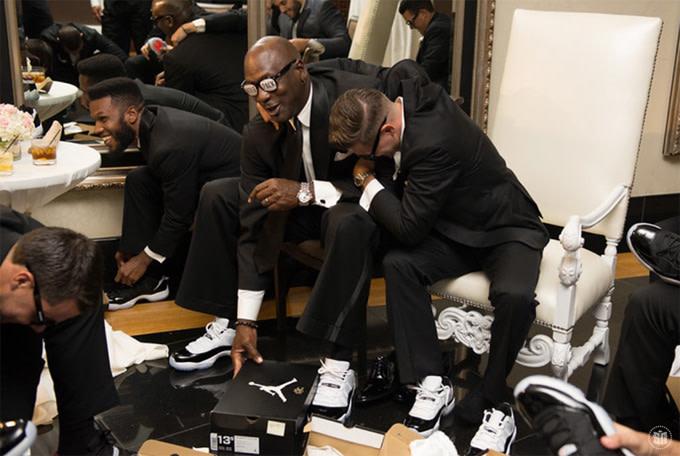 100% authentic 9fa15 4d72c Michael Jordan Wears Air Jordan XI Low