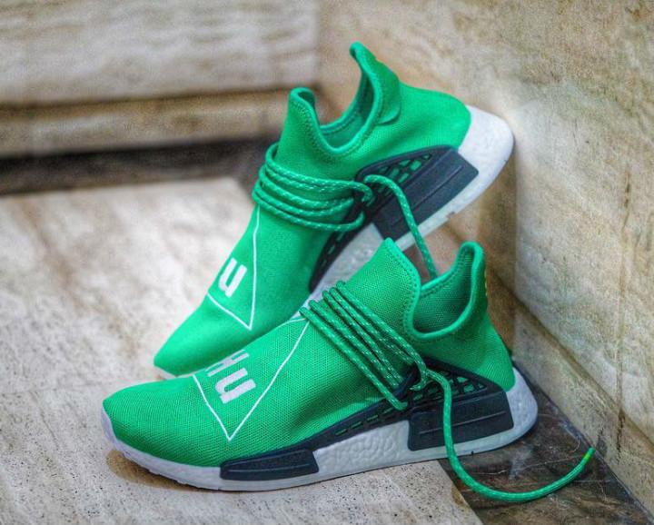 online retailer a5109 63c34 Pharrell x adidas NMD Green Human Race | Complex