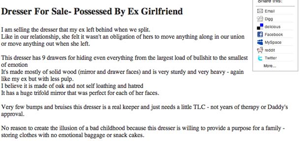 The 20 Weirdest Things You Can Buy on Craigslist | Complex