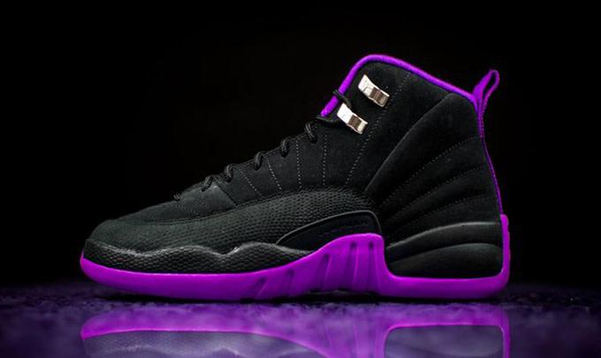 huge selection of 64469 9c741 Purple Black Jordan 12 | Complex