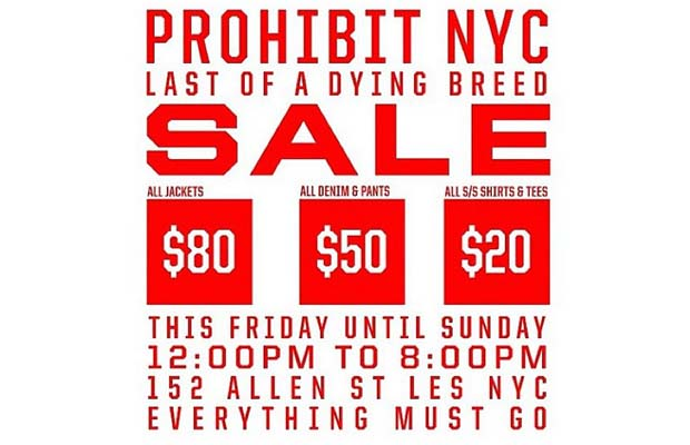 Prohibit NYC Bids Farewell With