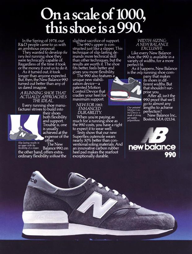 18e27eafdf735 If people thought $50 was expensive for a pair of running sneakers, two  years later in 1982, New Balance was selling its 990 model for $100.