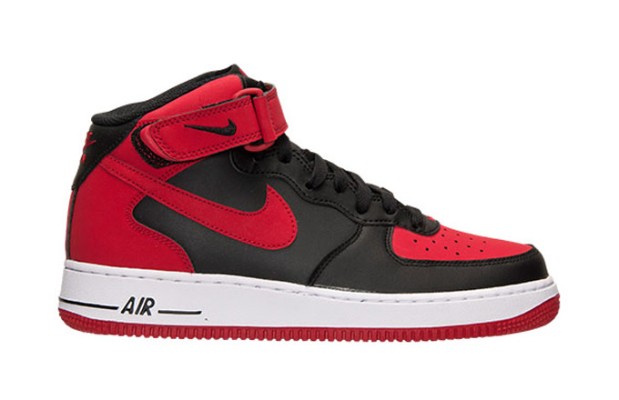 Kicks of the Day: Nike Air Force 1 Mid Black / Red | Complex