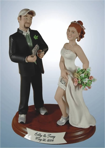 Dirty Wedding Cake Toppers
