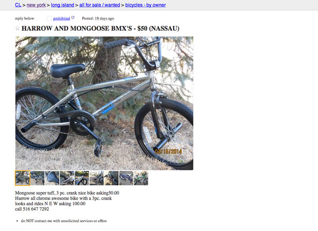 How Not to Sell Your Bike on Craigslist (or Anywhere Else