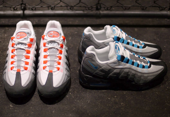 best sneakers 03f1c 9d32b Before the end of the month, the Swoosh will be dropping off two new  colorways of the Air Max 95 in original form. Hold your excitement, please.