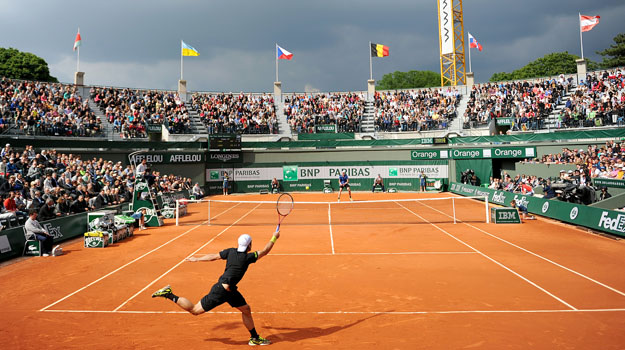 Image result for roland garros clay tennis court