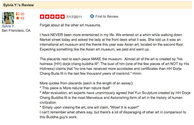 Funniest Yelp Reviews of Art Museums | Complex