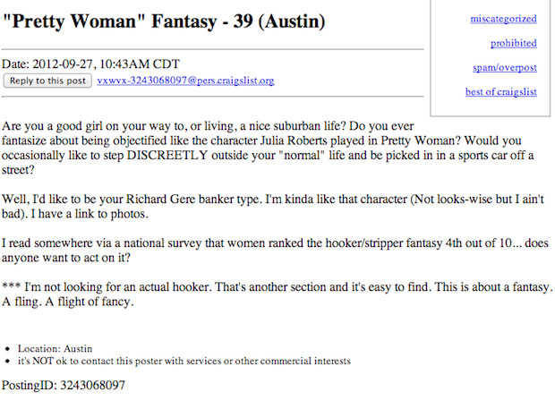 The 25 Weirdest Fetishes Currently On Craigslist | Complex