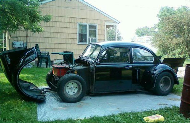 A 1971 VW Beetle with a Corvette Engine Is For Sale on