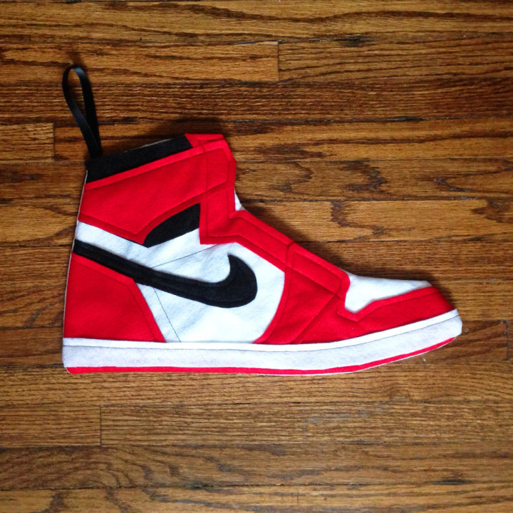 This Air Jordan 1 Christmas Stocking Would Look Great Hanging By