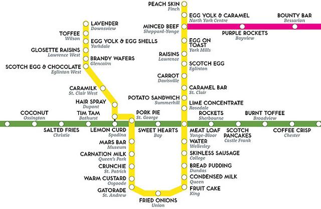 Toronto Subway Synaestesia Map