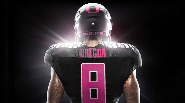 free shipping 4c524 ab138 Oregon Fights Breast Cancer With Their Most Fire Uniforms To ...