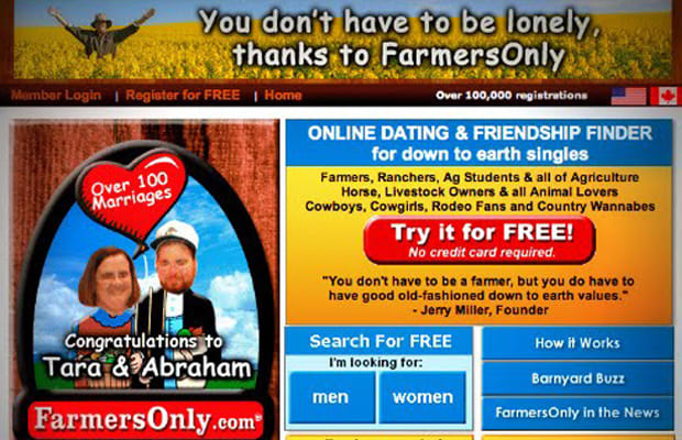 dating sites like farmers only Our rating: excellent established: 2005 site intent: connecting individuals that live in rural areas users: 5,000,000 available: worldwide our in-depth farmers only review.