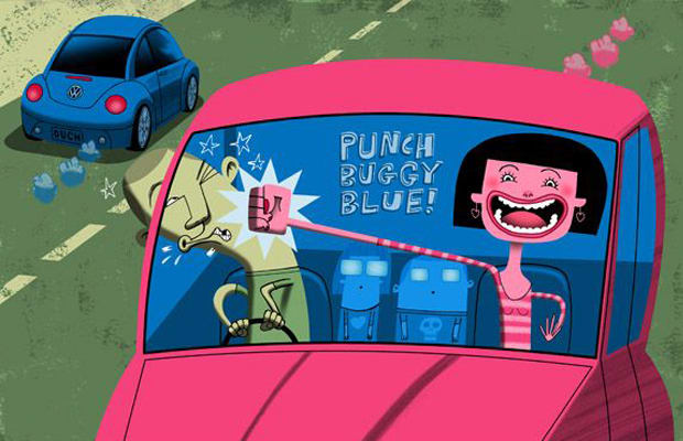 punch buggy  car games  played   kid    bored  road trips complex