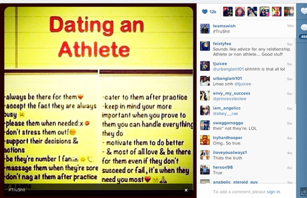 Dating an athlete advice