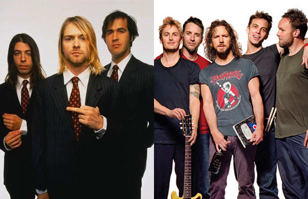 Image result for nirvana pearl jam