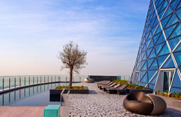 Hyatt Capital Gate The Scariest Hotel Swimming Pools In The World Complex