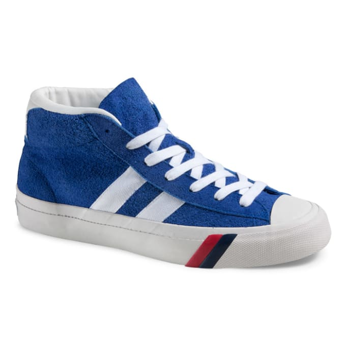 pro keds blue suede basketball shoes