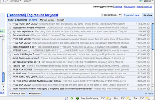 The porn spam email amusing