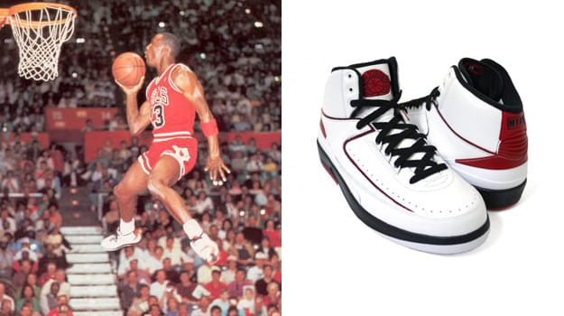 Michael Jordan in the Air Jordan 2