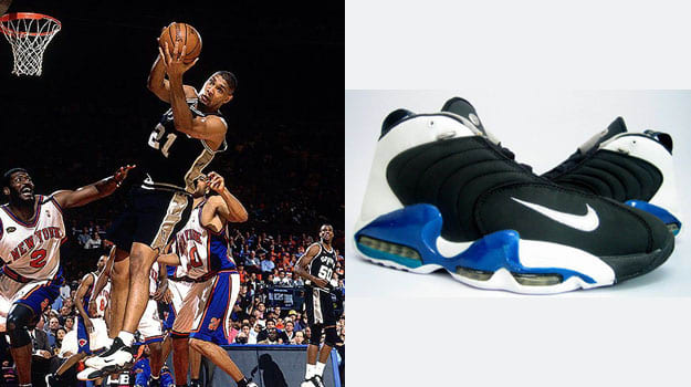 Tim Duncan in the Nike Air Vis Zoom Uptempo