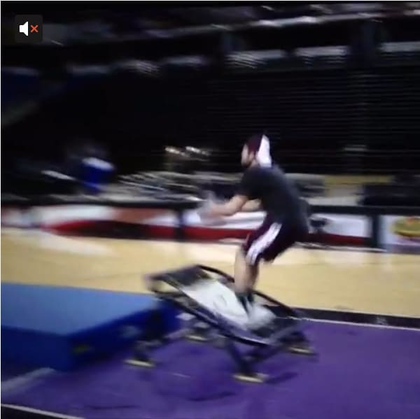 Getting Trampoline Springs Off: A Full Court Front Flip Shot Off A Trampoline Gets Nothing