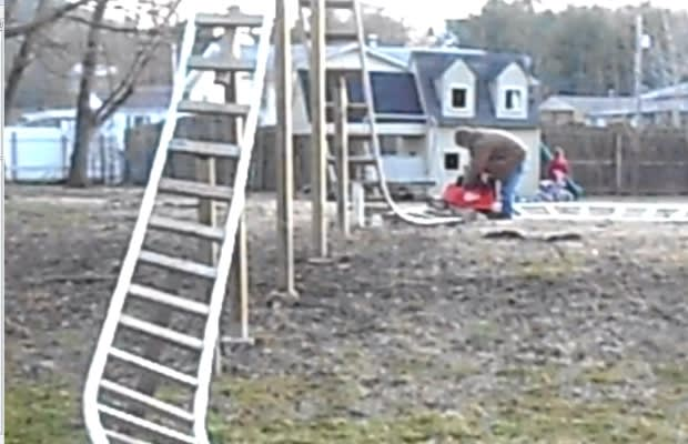 Roller Coaster In Their Backyard : Man Builds 12 PVC Pipe RollerCoaster for Kids in Backyard  Complex